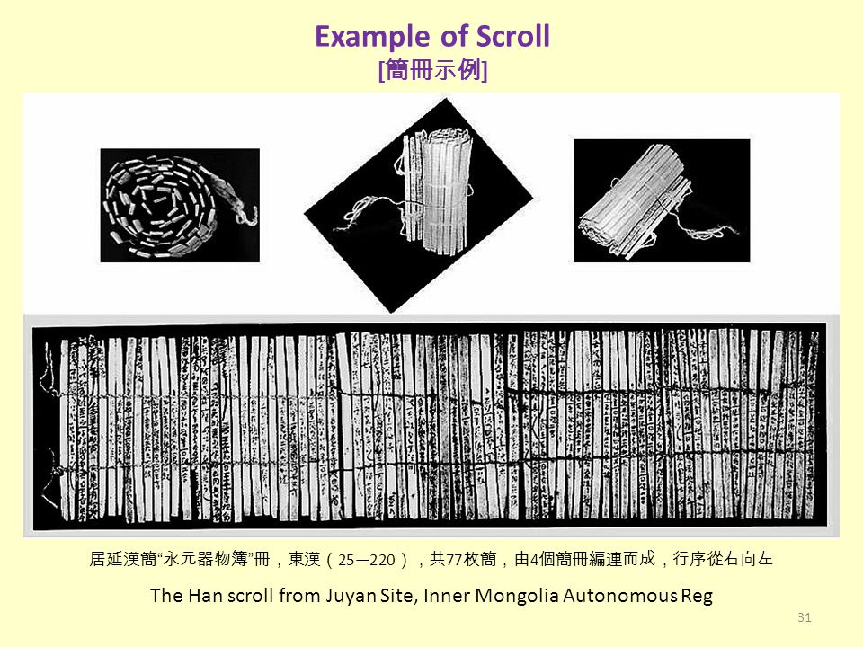 Example of Scroll [簡冊示例]